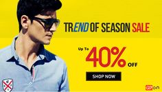 We are #presenting the new #offers for #Men's! Get upto 40% off on Men's #Clothing. Click here to order now. http://qpon.bz/