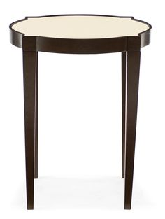 346-121A Haven End Table | Bernhardt W 22 D 22 H 27 Quatrefoil $480.00 #2Foot Round #Showroom