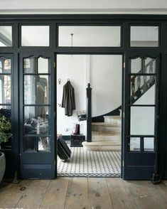 A beautiful house is not only making everyone in the house feel comfortable but also feel secure. One of the most important part of a beautiful house is the design. The design of . Read MoreDIY Double Doors a.a French Doors Ideas Home, Hunted Interior, House Styles, House Design, Finding A House, Building A House, Interior Design, House Interior, Vintage Tile