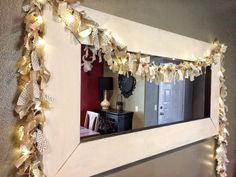 14' lighted burlap garland christmas garland by TheClassyGoose