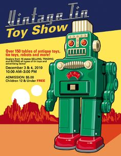 Vintage Robots, Retro Robot, Sketch Tattoo, Classroom Displays, Tin Toys, Spaceships, Illustrations And Posters, Antique Toys, Book Cover Design