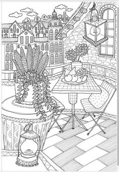 Fruit and flower coloring page