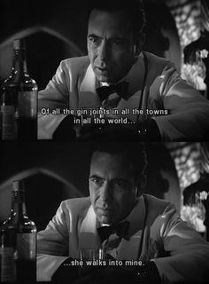 Casablanca 1942  :) <3 Classic Movie Quotes, Best Movie Quotes, Tv Quotes, Classic Movies, Mood Quotes, Quotable Quotes, Lauren Bacall, Casablanca Movie, Casablanca 1942