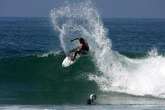 surfing in Huntiington Beach