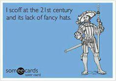 A lack of fancy hats