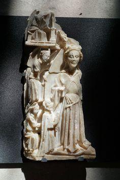 Assomption, albâtre, fin du XVe siècle, Abbeville, Musée Boucher-de-Perthes