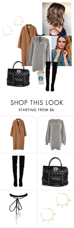 """""""Untitled #656"""" by t-hoosang on Polyvore featuring Treasure & Bond, Christian Louboutin, Chanel, WithChic and Justine Clenquet"""