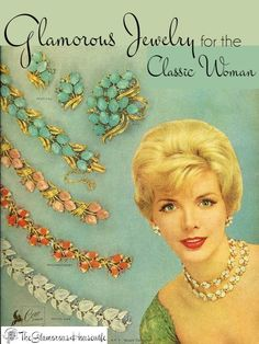 Here is a curated collection of 30 different pieces of glamorous jewelry for the classic woman.