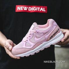 Nike Air Span II Air Cushion Womens Sports Casual Shoes Pink White 2018 New  Release a6367fc6a5f