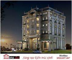 hotel elevation mu thit k bit th cao cp p, ngi nh xinh New Classical Architecture, Facade Architecture, Condo Design, House Design, Building Elevation, Classic Building, Apartment Projects, Modern Mansion, Luxury Condo