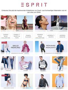ESPRIT Fashion online  Große Auswahl an #Damenmode, #Herrenmode und Acessories (#Schmuck, #Uhren) von #ESPRIT
