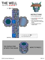 use this well paper craft for the well lessons in the Bible