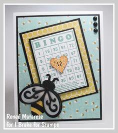 I Brake for Birthdays and Bingo! Bingo Cards, Handmade Birthday Cards, Happy Saturday, I Card, Stamps, Birthdays, My Love, Crafts, Happy Sabbath