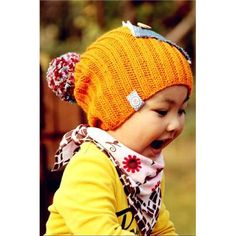 shades of orange Knitting Wool, Baby Knitting, Knitted Hats, Crochet Hats, Baby Warmer, Baby Hats, Applique, Winter Hats, Cap