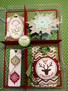 Uniquely Tagged - Box with holiday tags
