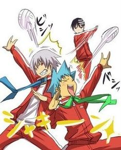 Soul, Black*Star, & Kid     Acting like a bunch of dumbasses is the way to go.