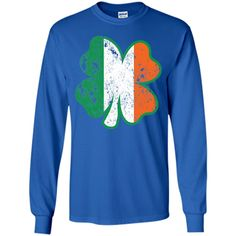 Clover Irish Flag DISTRESSED T-Shirt
