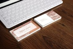 Marble Business Card Copper Business Card di AYAKAstudio su Etsy