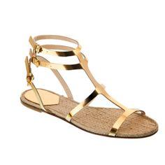 5ab5bacb962223 Mode été 2012 : les 50 chaussures qui nous font craquer ! : Les sandales à  lanières dorées Maje - Mode Plurielles.fr