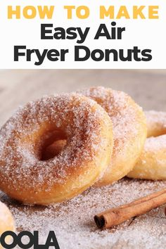 Simple Air Fryer Donuts For Your Sweet Cravings Donut shops give us two things we all need in life: appetizing snacks and convenience. But if you have an air fryer, you can save yourself time and money by making delicious donuts at home. Air Fryer Recipes Low Carb, Air Fryer Recipes Breakfast, Air Fryer Dinner Recipes, Airfryer Breakfast Recipes, Power Air Fryer Recipes, Air Fryer Recipes Potatoes, Recipes Dinner, Beignets, Air Fryer Doughnut Recipe