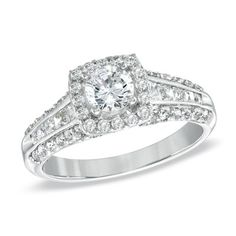 Celebration+102™+1-3/8+CT.+T.W.+Diamond+Engagement+Ring+in+18K+White+Gold+(I/SI2)