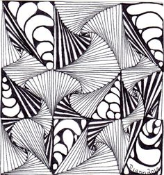Tangle 60 by Diann 2012. Pinned from her folder, visit for more Zentangles http://pinterest.com/dian0913/zentangle-inspired-my-art/