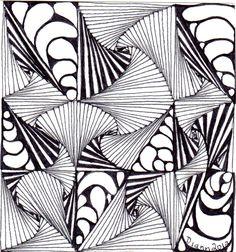 Tangle 60 by Diann 2012. Pinned from her folder, visit for more Zentangles http://pinterest.com/dian0913/zentangle-inspired-my-art/