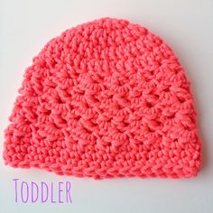 5 Little Monsters: Textured Toddler Beanie: Free Crochet Pattern