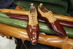 Handmade Special Design Luxury Brown Mens Shoes by UstabasShoes, $299.00