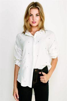 Collin Shirt in Soft White