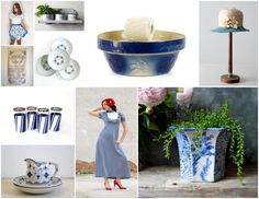 Classic Blue & White Vintage from the shops at #VintageAndMain www.etsy.com/pages/vintageandmain/classic-vintage-blues