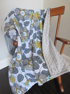 Large Baby Blanket Minky Baby Blanket Minky by BigCheeksBoutique