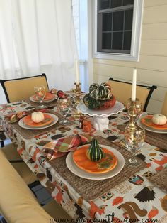 A Tablescape For Fall (and the grandchildren) - A Porch With A View