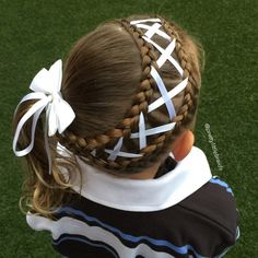 """Lace dutch braids today with a corset braid to a side ponytail. Style inspired by @winterhair who used pink ribbon and it was so pretty!  Twinning early with lace braids for #SurpriseVanessa_Kares84 #littlegirlshairstyles #cutegirlshairstyles #braid #braids #braidsforgirls #braidphotos #instabraid #instahair #peinados  #cutehairstyles101 #geflochten #hairstylesandtips #braidideas #bnwbraids #solopeinados @bestofhair #hairinspiration #flette #bnwbraids"" Photo taken by @prettylittlebraids on…"
