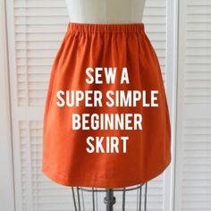 Sewing 101 - Sew a Super Simple Skirt #sewing #beginner #easy #tutorial #diy