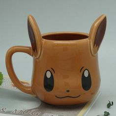 "Pokemon ""Pikachu"" or ""Eevee"" Mug and Saucer"