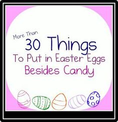 Family Volley: Easter Egg Hunts-More Than Just Candy-Lots of Ideas for mamas like me who would honestly eat ALL of their kids candy!