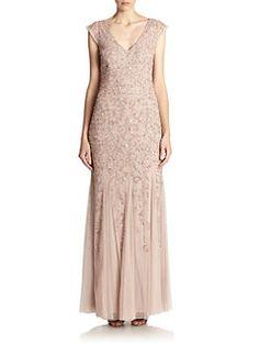 Aidan Mattox - Beaded Godet Gown