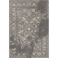 Bring cosmopolitan style to your dining room ensemble or den seating group with this artfully woven rug, showcasing a distressed Persian motif for a touch of...