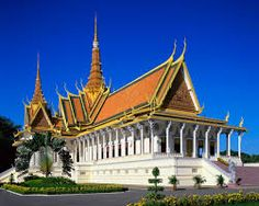 The Royal Palace of Phnom Penh, Cambodia, is a set of buildings where the residence of the kings of Cambodia is located since its construction in 1866. Its full name in Khmer is Preah Barom Reachea Vaeng Chaktomuk.