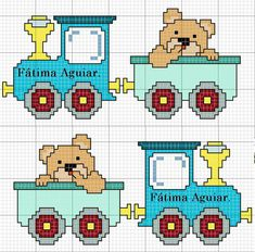 Cross Stitch Baby, Cross Stitch Patterns, Cross Stitching, Baby Quilts, Hand Sewing, Weaving, Baby Boy, Lily, Teddy Bear