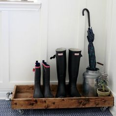 """""""Whether you're dealing with snow in the north or rain in the south, your mudroom needs a place to store those dirty boots. Avoid drips and slips with this…"""""""