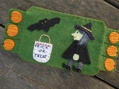 Halloween Fiber Art, Halloween Bat, Drink Coaster, Pumpkins, Witches, Trick or…