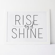 "Printable ""Rise and Shine"" Wall Art / Wall Print  by Elemenopee Design  3.00 CA"