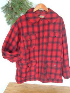 Red Buffalo Plaid Moose Womens Fashion Baseball Uniform Jacket Sport Coat