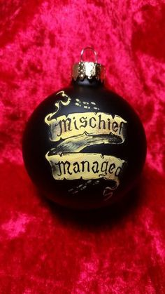 I solemnly swear that I am up to no good ......Mischief Managed Perfect for any Wizards tree. Mischief Managed ornament hand painted, each