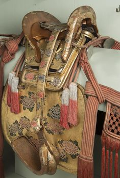 Saddle with Stirrups and Harness | Japan | mid 19th century | wood, leather, steel, lacquer | Hermitage | Inventory #: В.О.-5725