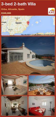 3-bed 2-bath Villa in Orba, Alicante, Spain ►€249,000 #PropertyForSaleInSpain