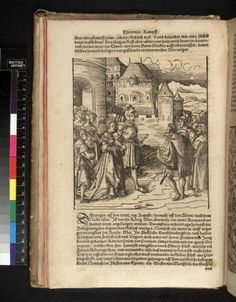 Maria of Hungary and her entourage meet members of the Spanish party.1549