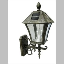 Weathered Bronze Wall Mount Solar Lamp With 6 Solar LED At The Home Depot